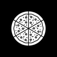 Schneiden Sie Scheiben Pizza Dark Mode Glyphen-Symbol vektor
