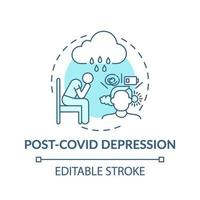 Post-Covid-Depressionskonzept-Symbol vektor