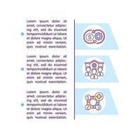 icke-statliga institutioner koncept ikon med text vektor