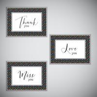 Dekorative Mitteilungskarten