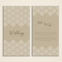 Hochzeitseinladung vektor