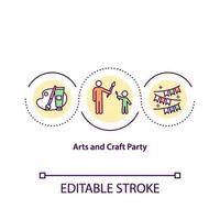 Kunst und Handwerk Party Konzept Ikone vektor
