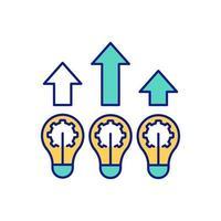 Verbesserung des Fälschbarkeitsfarbsymbols vektor