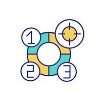 Erhalten und Auffüllen von neuen Wissensfarbsymbolen vektor
