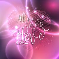 Allt du behöver är kärleksdesign vektor