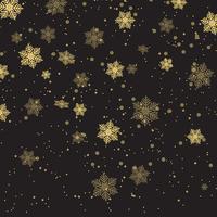 Jul snöflingor bakgrund vektor