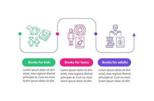 digital bibliotek vektor infographic mall