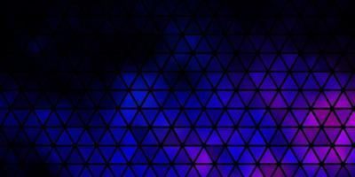 dunkelrosa, blaues Vektormuster mit polygonalem Stil. vektor