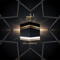muslimische Pilgerfahrt Hadsch Mabroor Banner mit islamischem Muster vektor