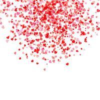 Fallande hjärtan bakgrund vektor