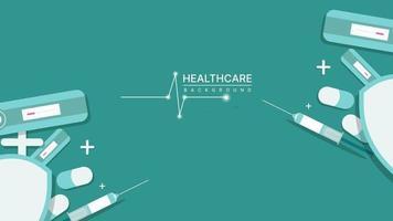 Tapetenvorlage für Gesundheitswesen, Medizin, Technologie und Wissenschaft. Vektorillustration vektor