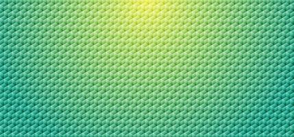 abstrakter grüner Farbverlauf geometrischer Würfelmosaikmusterhintergrund und -beschaffenheit. vektor