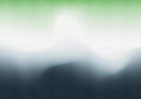abstrakt grön, vit och blå tonad suddig bakgrund med våglinjestruktur vektor