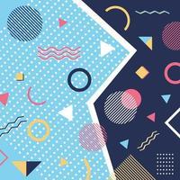abstrakt trendiga mönster bakgrund geometriska element memphis stil vektor