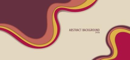 abstrakter Hintergrund rosa und gelbe flüssige Form überlappende Schicht flaches Design vektor