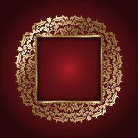 Elegant guldram vektor