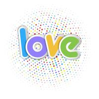 Gullig kärlek bakgrund vektor
