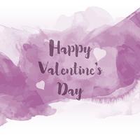 Akvarell Alla hjärtans dag bakgrund vektor