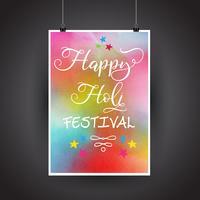 Glad Holi affisch