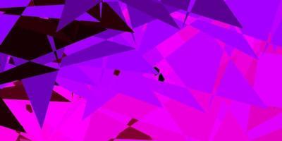 dunkelviolettes, rosa Vektormuster mit polygonalen Formen. vektor