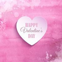Aquarell Valentinstag Hintergrund vektor