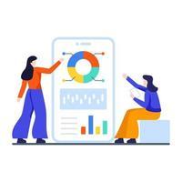 Trendanalyse basierend auf Umfragedatenkonzept