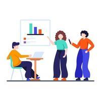 Geschäftsgruppendiskussionskonzept vektor