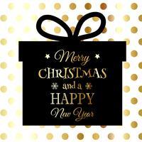 Guld och svart julbakgrund vektor