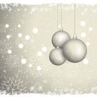 Julgran bakgrund med snöflingor vektor