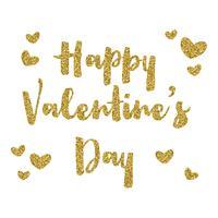 Glitter Valentinstag Hintergrund vektor