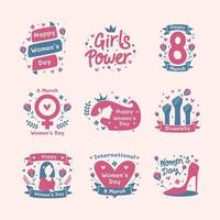 Happy Women 's Day Sticker Pack vektor