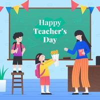 glad lärares dagskoncept vektor