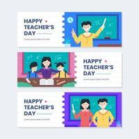 glückliche Lehrertag-Bannerschablone vektor