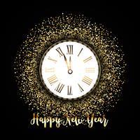 Guten Rutsch ins Neue Jahr-Hintergrund mit Goldfunkeln vektor