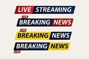 Aktuelle Nachrichten Live Corona Virus Covid-19 Vektor Vorlage Design Illustration