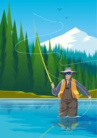 Fliegenfischer vektor