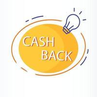 cashback-ikon, returpengar, cashback-rabatt, tunn linje webbsymbol på vit bakgrund - redigerbar stroke vektorillustration