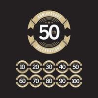 50-årsjubileum firande logotyp vektor mall design illustration
