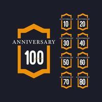 100 Jahre Jubiläumsfeier Vektor Vorlage Design Illustration