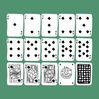 Set gekritzelte Karten
