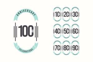 Illustration för design för vektormall för 100-årsjubileum elegant