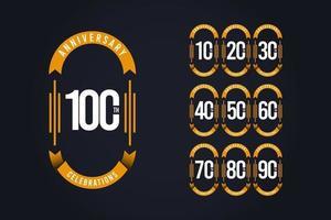 100-årsjubileum firande logo vektor mall design illustration