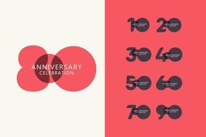 80 år årsdag firande logotyp vektor mall design illustration