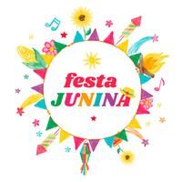 Färgglada Festa Junina Bakgrund vektor