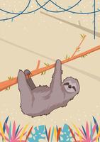 Söt sloth vektor