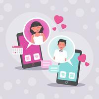 Online dating vektor
