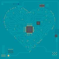 Vacker i kärlek med teknikvektorer vektor