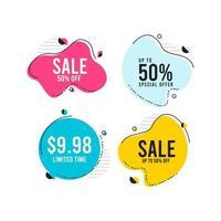 rabatt försäljning etikett tagg vektor mall design illustration