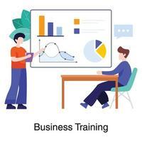 professionell affärsutbildning koncept
