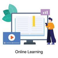 Online-Lernwebsite-Konzept